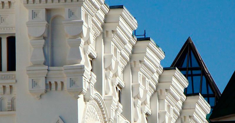 Оформление фасадов архитектурным бетоном
