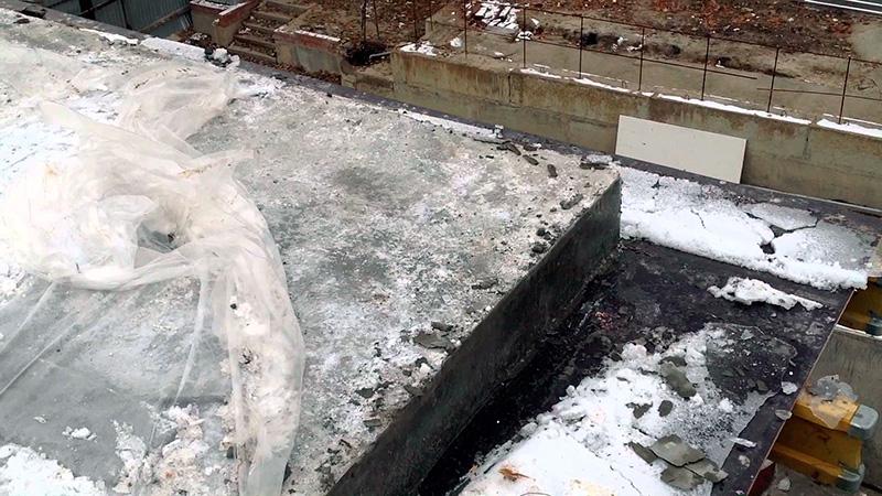 Затвердевание бетона зимой