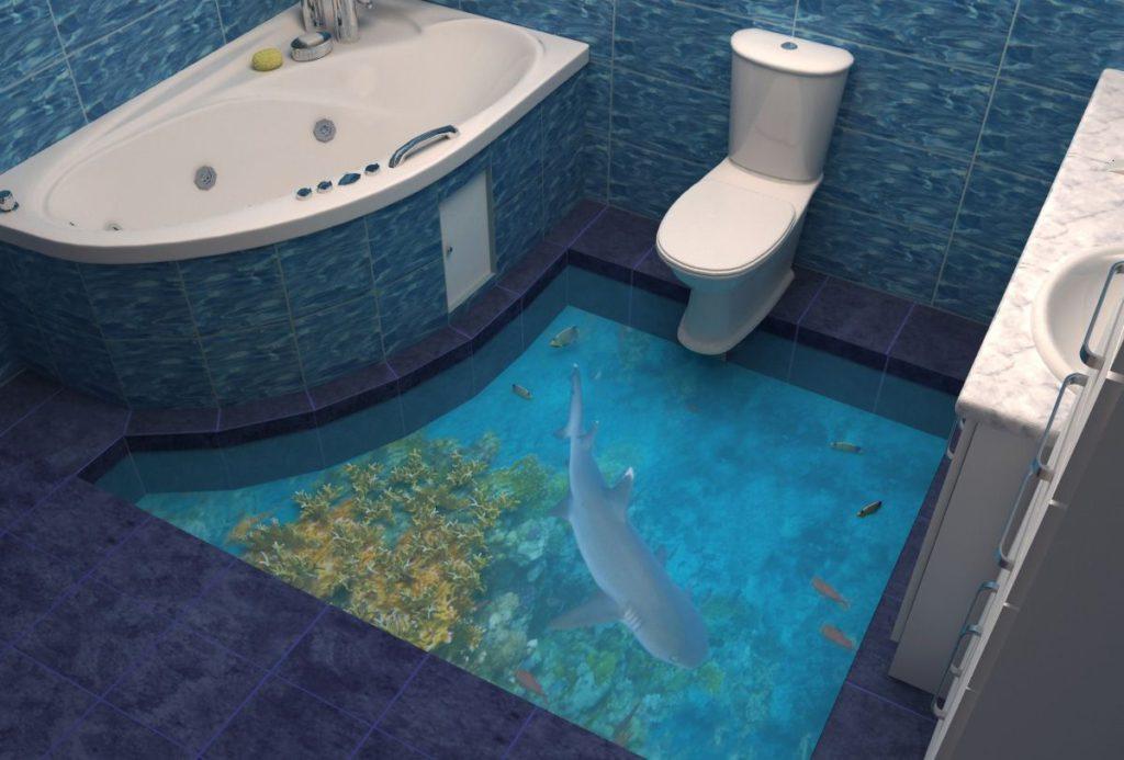 Наливной пол в ванне