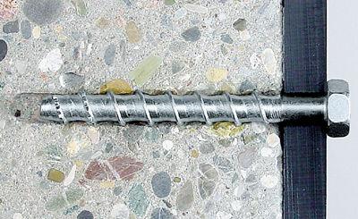 Шуруп по бетону в стене