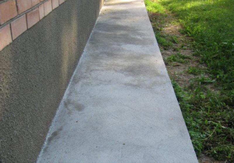 Готовая отмостка из бетона