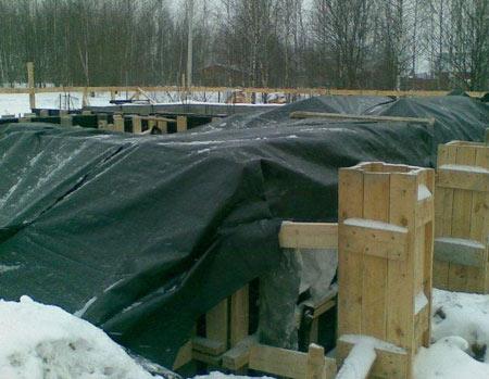Утепление бетона после заливки методом термоса